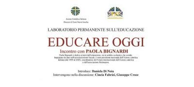 Educare oggi: incontro con Paola Bignardi