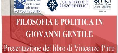 Presentazione di Filosofia e Politica in Giovanni Gentile
