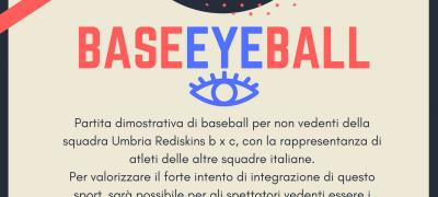 BaseEYEball: partita dimostrativa baseball per ciechi