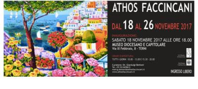 Mostra personale dell'artista Athos Faccincani