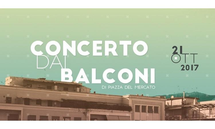 Concerto dai balconi in Piazza del Mercato