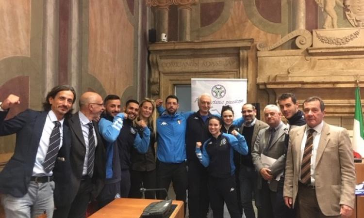 La nazionale Italiana Fijlkam ricevuta a Palazzo Spada