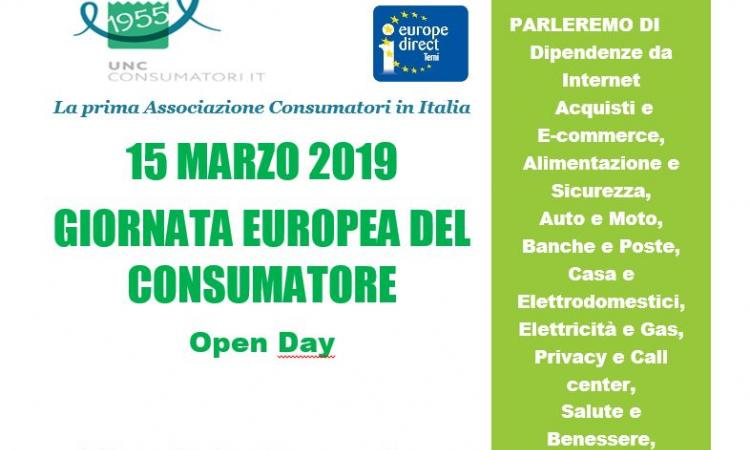 Giornata europea del consumatore: porte aperte all'Urp