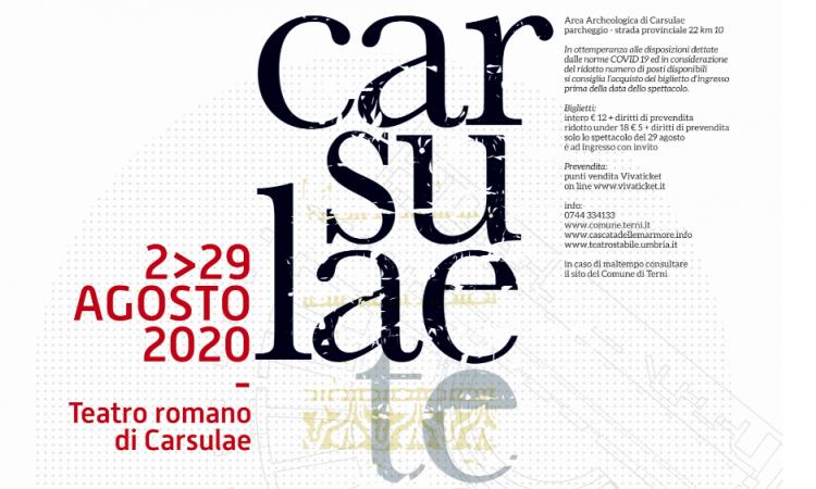 Sei spettacoli in cartellone per CarsulaeTeatro