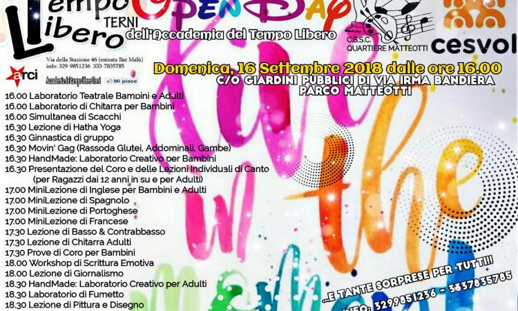 Openday² Accademia Tempo Libero